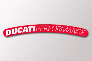 Set of 10 Red Ducati Performance Wheel Rim Stickers