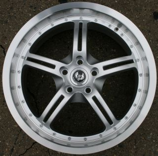 JOCK FACE 19 H SILVER RIMS WHEELS 9 3 SPORT AERO 98 up 19 x 8 5 5H 35