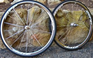 Zipp 101 Clincher Wheelset 700c Road Bike Wheels Rare Falcon Grey