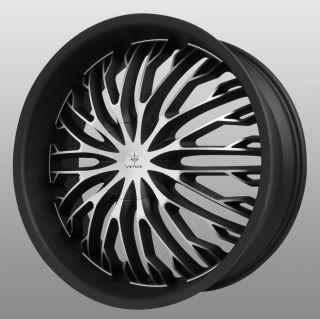 22 inch Verde Hydra Black Wheels Rims 5x112 Mercedes S500 S550 S430