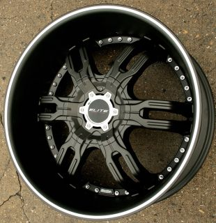 Elite Carnal W113 22 Black Rims Wheels BMW 645 650 22 x 9 5 5H 15