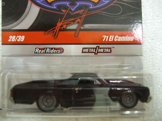 Ho Wheels Garage Series 71 El Camino Black Variaion Real Riders $11