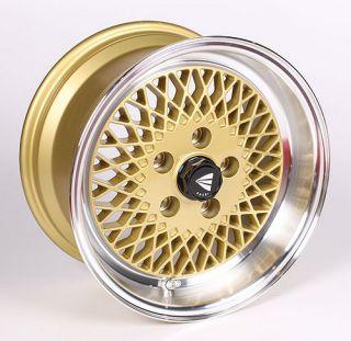 Enkei 92 ENKEI92 Wheel Rim 15x8 4x100 25mm Offset Gold w Machined Lip