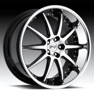20 Niche Spa Rims 5 Lug 5x115 Wheels Tires Package for Chrysler 300