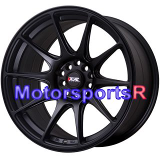 Flat Black Staggered Rims Wheels Concave Stance 92 93 Mazda Rx7 FC FD