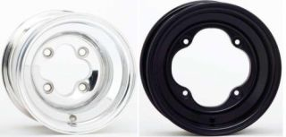 Aluminum Wheels 4 115 10x8 Black Polish Banshee YFZ450