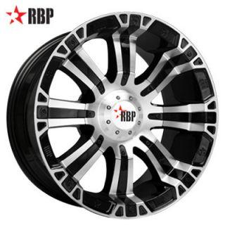20 RBP 94R Wheel Set Black Machined 20x9 Offroad Rims