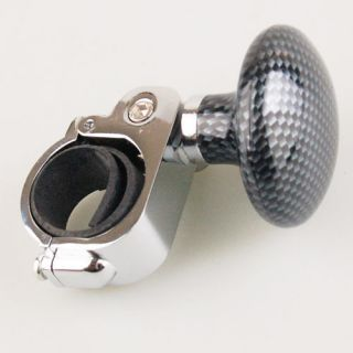 Black Silver Car Steering Wheel Suicide Spinner Knob