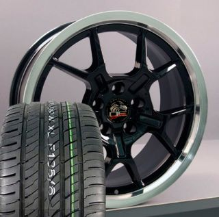 18 Fits Mustang® GT4 Wheels Rims Tires Black
