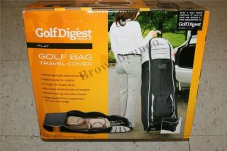 Golfdigest Golf Bag Travel Cover Wheels w 1 Year Golfdigest