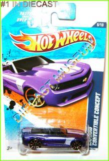 12 Chevy Camaro Convertible Purple Hot Wheels HW Diecast 2011