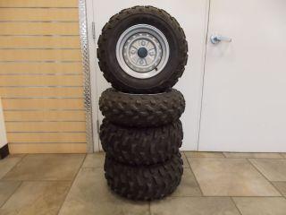 Honda TRX250 TRX 250 Recon Factory Pulloff Wheels Tires Silver