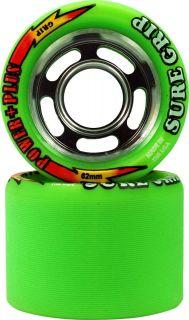 Speed Skate Wheels Sure Grip Power Plus Quad Skate Wheels Green 97A