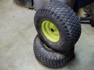 John Deere 111 108 116 Lawn Tractor Front Tires Wheels 15 x 6 6 P12