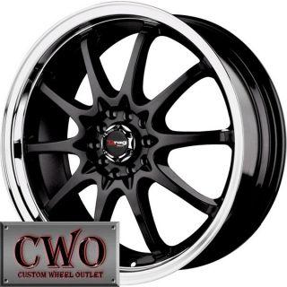 17 Black Drag DR 9 Wheels Rims 5x110 5x115 5 Lug Malibu Aura CTS DTS