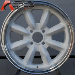 16x7 Rota RB Rim 4x100 White Wheels Fits Mini Cooper 2002 2012