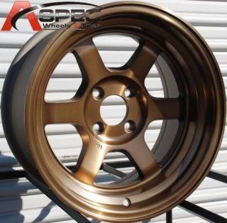 Rota Grid V Classic 15x8 4x100 E0 Sport Bronze Wheels