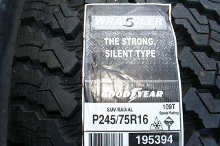 Brand New 245 75 16 Goodyear Wrangler Silentarmor Tires 109T