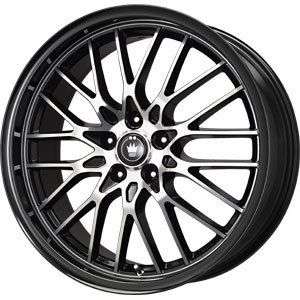New 16x7 5x110 5x115 Konig Lace Black Wheels Rims
