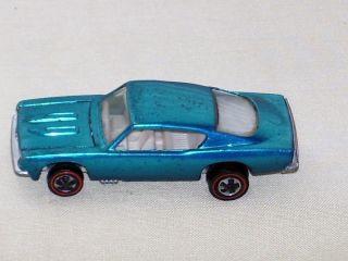1968 Mattel Hot Wheels Redline Custom Barracuda   Aqua   U.S. Casting