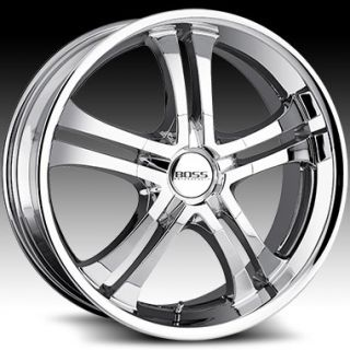 20 20x8 5 Boss 327 5x112 5x120 Chrome Wheels Rims New