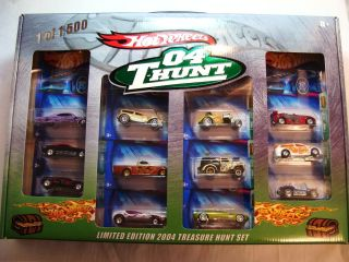 Hot Wheels 2004 Treasure Hunt Box Set Unopened Mint in Mint Box