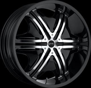 22 Black Rims 5x115 127 Tires Chrysler 300 Dodge Charger Magnum