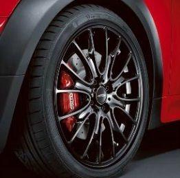 Mini Cooper JCW 18 R113 Black Cross Spoke Rim Wheel with Hubcap New