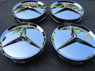 Mercedes Wheel Chrome Center Caps Brand New Set of 4 Will Fit All