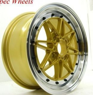 Rota Flashback 15x6 5 4x100 ET40 Royal Gold Wheels
