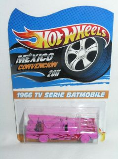 Hot Wheels 2011 Mexico Convention Rare VIP Pink 1966 TV Series