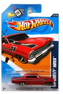 2012 Hot Wheels Muscle Mania GM 106 1966 Chevrolet Nova