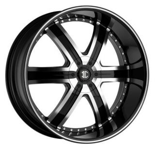 24 inch 2CRAVE No4 Black Diamond Wheels Rims 5x120 BMW 5 Series 6