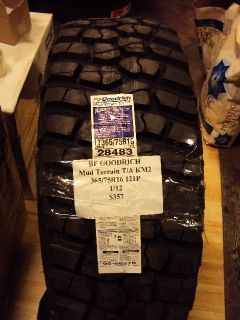 BF Goodrich Mud Terrain TA KM2 365 75R16 121P Brand New Tire
