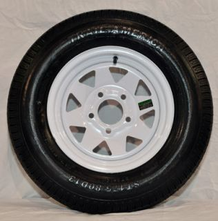 St 205 75R14 Radial Trailer Tire 14 White Spoke Wheel