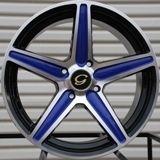 G253 Wheel 5x108 40 Blue Machine Rim Fits Volvo S40 V40 S60 C70