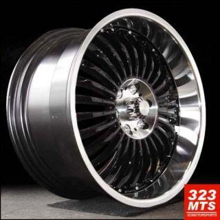 x9 5 Rims Verde V48 Black Machine Lip Ford Lincoln SUV Wheels