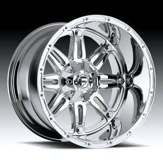 20 inch 20x12 Fuel Hostage Chrome Wheel Rim 6x5 5 6x139 7 Lifted SLX