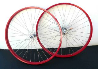 Beach Cruiser Bike 26x2 125 Rear Front Wheels Rims w Coaster Brake Red