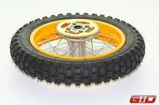 125cc Dirt Bike Rear Wheel Complete