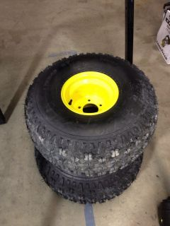 New Pair of John Deere Gator Rear Tires and Wheels 25x12x9