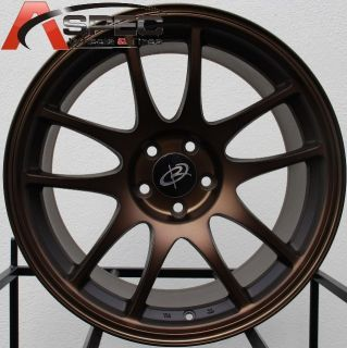 18x9 5 Rota Torque Wheels 5x114 3 Rims 20mm Sport Bronze Fits EVO 8 9