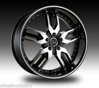 22 K9 Wheels 125 Black Rims Charger Magnum 300C Challenger Towncar