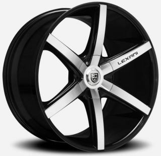 24 inch 24X10 Lexani R 6 Gloss Black Wheel Rim 5x130 Porsche
