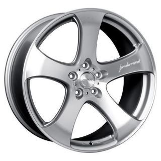 19 MRR HR2 Silver Rims Wheels 19x8 5 ET45 5x112 Voltswagon Jetta GTI