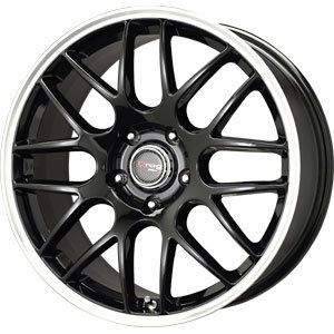 New 17x7 5 5x112 Drag Dr 37 Black Wheels Rims