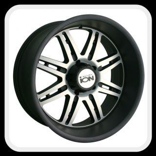 ION Alloys style 183 Wheels Rims 20x10, 6x135mm Matte Black w/ machine