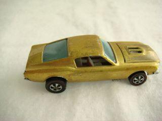 Hot Wheels Red Line RL Metallic Gold Custom Mustang Ohs Near Mint