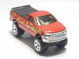 Hot Wheels 1997 Ford F 150 4x4 Pickup Flames Blister Pull