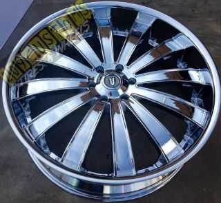 26 inch Versante Rims Wheels Tires VW225 6x139 7 Chrome Silverado 05